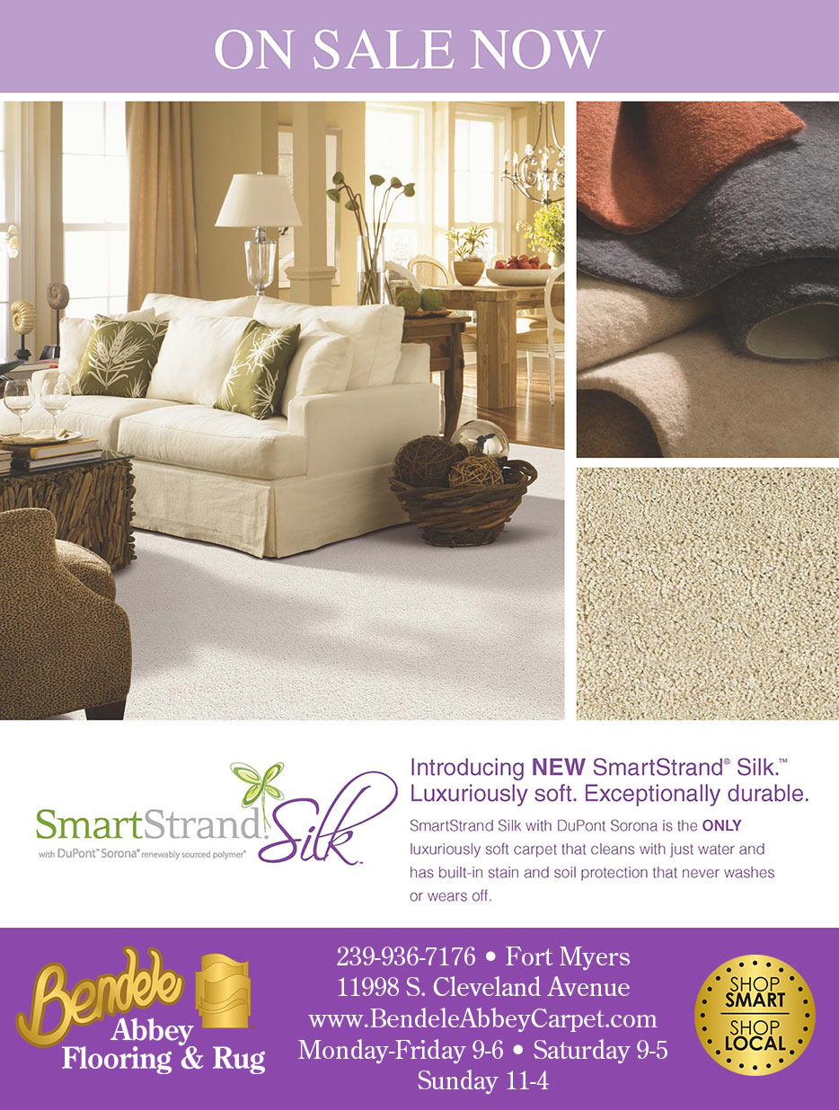 On sale now at Bendele Abbey Carpet & Floor - SmartStrand Silk - Luxuriously soft. Exceptionally durable.