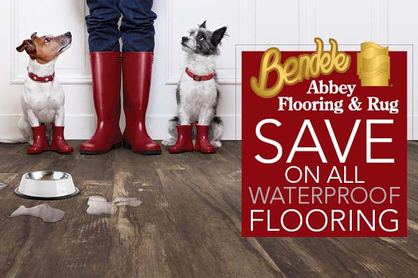Save on all waterproof luxury vinyl flooring this month only at Bendele Abbey Carpet & Floor in Fort Myers